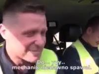 """""""Puści pan do Grajewa"""" - policjanci nie wytrzymali ze śmiechu"""