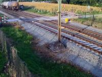 Idiota na przejeździe kolejowym