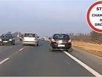Nierozważny kierowca Nissana - zajeżdżanie, wyprzedzanie na czołówkę