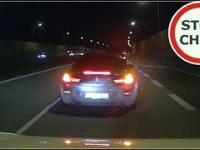 Czarne BMW blokuje i zajeżdża drogę 165 Wasze Film
