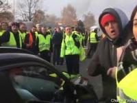 Pierwszy dzień strajku we Francji - blokady i awantury