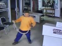 Człowiek zaatakowany przez węża w komisariacie policji