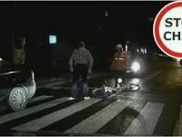 Atak kierowcy na rowerzystę na przejściu dla pieszych
