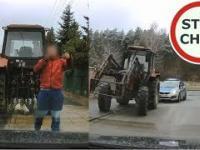 Wymuszenie przez pijanego traktorzystę i spotkanie z Policją 174