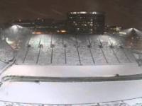 Usuwanie śniegu że stadionu