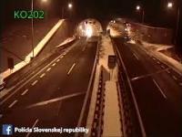 Słowacki kaskader w BMW uderzył w sufit tunelu