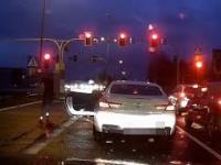 Zadyma na skrzyżowaniu w Czechowicach-Dziedzicach