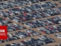 parking na kalifornijskiej pustyni