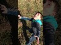 Reakcja dziecka na wystrzelenie pierwszej rakiety