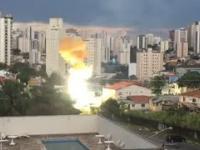 Widowiskowa awaria linii elektrycznej w Sao Paulo