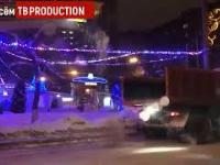 Rosja nie ustaje w walce ze śniegiem na ulicach