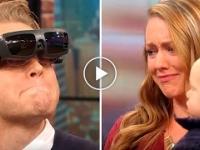 Niewidomy facet widzi swoją rodzinę po raz pierwszy dzięki technice