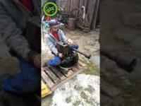 Podwórkowy ostrzał karabinem spalinowym