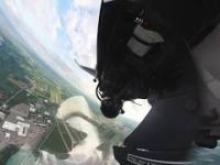 Nietypowe ujęcie z kokpitu w F-16
