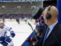 Pierre McGuire i szczęście ne meczu hokejowym