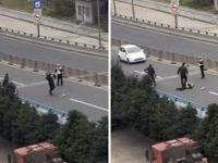 Chiński rzut policjantem