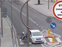 Potrącenie rowerzysty na przejściu dla pieszych - ku przestrodze