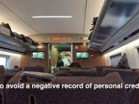 Chiński System Zaufania Społecznego - komunikat z pociągu