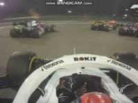 Pierwsze okrążenie Roberta Kubicy - Grand Prix Bahrain 2019