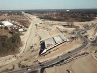 Budowa Mostu Południowego w Warszawie.