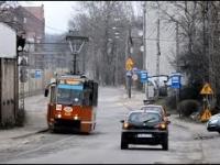 Tramwaje linii 24, trójkąt i ul. Staszica
