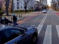 Niebezpieczne przejście ... i kierowca, który nie chciał porozmawiać z pieszym