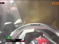 Robert Kubica rozbija bolid podczas kwalifikacji do GP Azejberdżanu