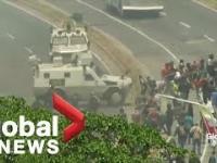 W Wenezueli rząd wjeżdżają w ludzi pojazdami wojskowymi