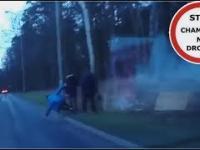 Chłopak wpada na jezdnie tuż pod nadjeżdżający samochód 228 Wasze Filmy