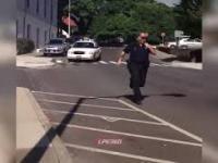 Koleś postanowił pośmieszkować z grubego policjanta