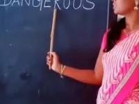 Nauka angielskiego w indyjskiej szkole
