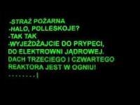 Rozmowa dyspozytorów straży pożarnej, Czarnobyl 26.04.1986