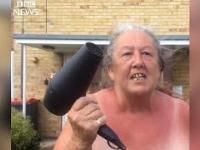 Babcia wspiera policyjna drogówkę
