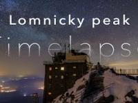 Film timelapse ze szczytu Łomnicy na Słowacji - drugiego najwyższego w Tatrach.