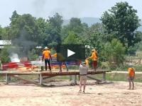 Spektakularne uruchomienie fajerwerków w Tajlandii