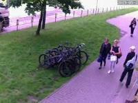 Jak ukraść rower ze sklepu i po drodze prawie się wywalić