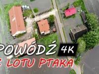 Powódź w Polsce w maju 2019 z lotu ptaka w 4K