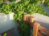 Minecraft + raytracing mod