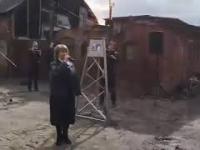 Uroczyste podłączenie do sieci gazowej miasta Sowieck w Obwodzie Kaliningradz.