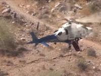 Helikopter ratuje ranną turystkę