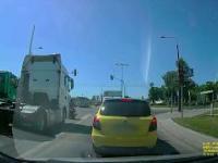 Zderzenie ciągnika siodłowego z motocyklistą