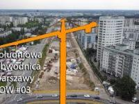 Postępy prac na budowie Południowej Obwodnicy Warszawy POW  03