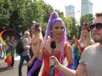 Interwencja policji na marszu LGBT w Warszawie