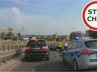 Uciekali Mercedesem przed Policją i staranowali auta 256 Wasze Filmy
