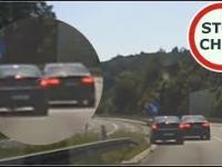 Pirat w Audi blokuje, hamuje i spycha z drogi 257 Wasze Filmy