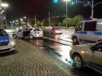 Policyjna kolizja we Wrocławiu
