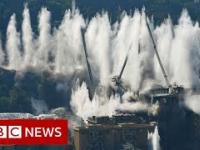 Wysadzenie 4500-tonowego mostu w Genui po katastrofie