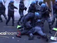 Włoska policja vs Antifa