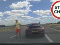 Kierowca Porsche zmusza do zatrzymania na S8 - próba pobicia