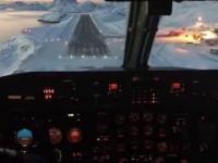 Genialny widoki podczas lądowania na Grenlandii